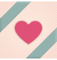 Card Heart One vector image