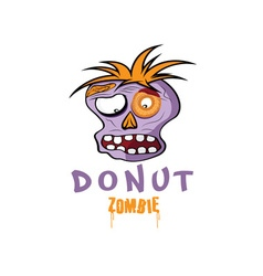 Cartoon Donut Zombie face design template vector image