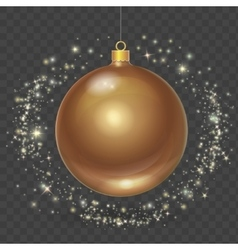 Christmas ball with gold stars Xmas design vector image vector image