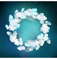 Circle of White Feathers vector image vector image