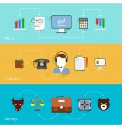 Finance exchange banner vector image