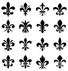 fleur de lis set vector image vector image