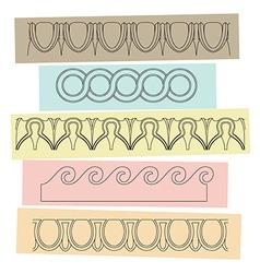 Greek motif ornaments vector