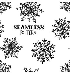 snowflakes seamless pattern holiday background vector image
