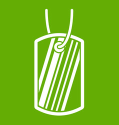 army badge icon green vector image