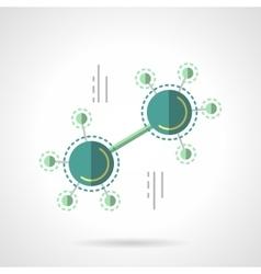 Molecule scheme flat color design icon vector image