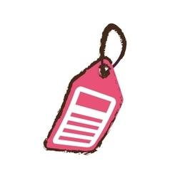 pink price tag sale blank sketch vector image