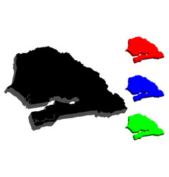 3d map of senegal vector image
