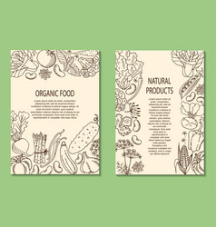 A flyer with vegetables vector