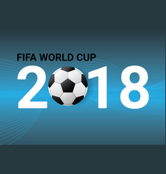 a football world cup isolated background vector image