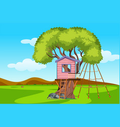 a tree house playground vector image