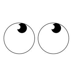abstract cartoon eyes vector image