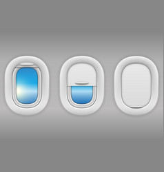 airplane window porthole stock vector image