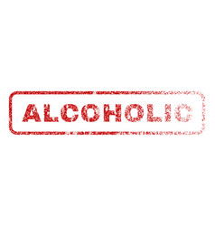 alcoholic rubber stamp vector image