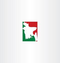 Bangladesh logo map icon vector