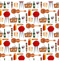 barbecue party products kitchen outdoor family vector image