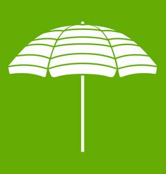 beach umbrella icon green vector image