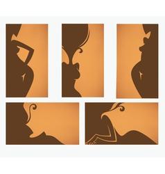 Beauty salon and solarium cards vector