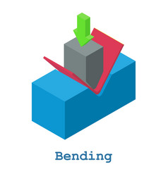 Bending metalwork icon isometric 3d style vector