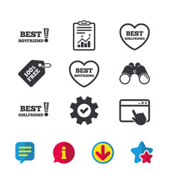 Best boyfriend and girlfriend icons vector
