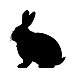 Black and white rabbit design vector