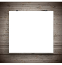 Blank paper poster vintage background vector
