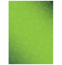 Bright green floral background a4 format vector