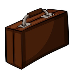 Brown attache case vector