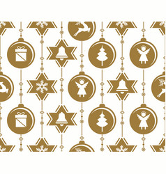 christmas baubles decoration vector image