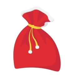 Christmas sack cartoon icon vector image