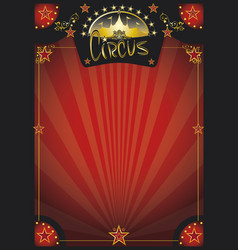 circus retro red poster vector image