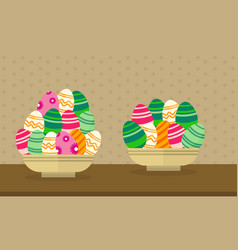 Collection easter theme with egg vector