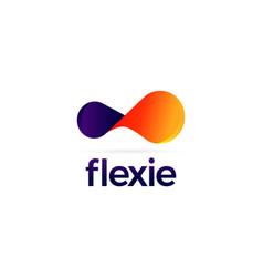 colorful flexible logo sign symbol icon vector image