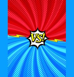 Comic book versus vertical style background vector