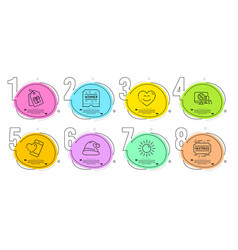 Coupons winner ticket and fastpass icons set vector