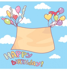 cute birthday card vector image