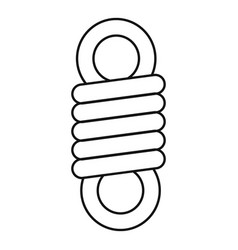 Double spring coil icon outline style vector