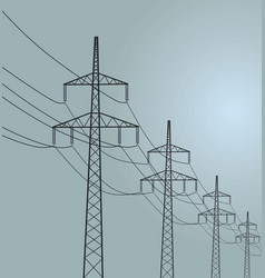 energy transmission vector image