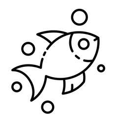 exotic marine fish icon outline style vector image