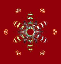Fine winter ornament snowflakes collection vector