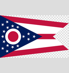 Flag of the us state of ohio detailed vector
