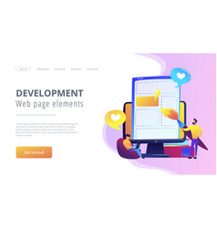 front end development it concept vector image