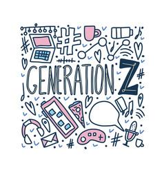 Generation z poster concept vector