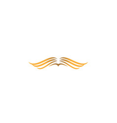 Golden wing logo design template vector