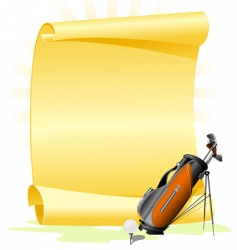 golf invitation vector image