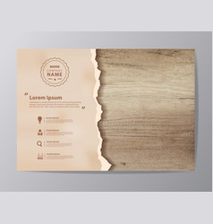 grunge paper on wooden wall vector image