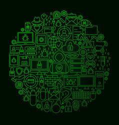 hacker line circle concept vector image