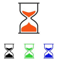 Hourglass flat icon vector
