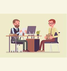 Hr interview screening talking with job vector