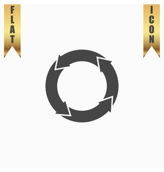 Icon of recycle vector image
